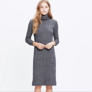 Madewell turtleneck sweater dress midi charcoal M